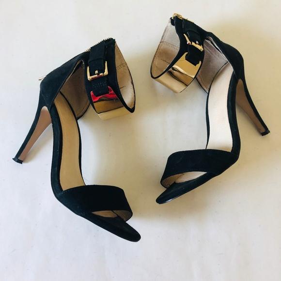 b2af0bd1465b Aldo Shoes | Womens Black Suede Open Toe Heeled Sandals | Poshmark